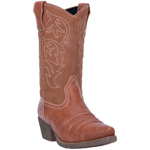 Dingo Womens Rust Prairie Rose 10in Cowboy Boots Faux Leather