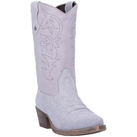 Dingo Womens Grey Prairie Rose 10in Cowboy Boots Faux Leather