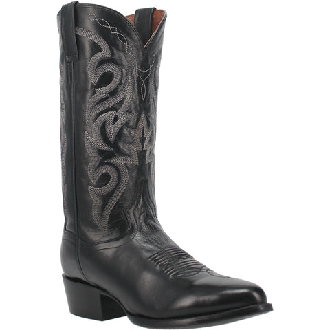 Dan Post Mens Black Cowboy Boots Leather Cowboy Boots R Toe