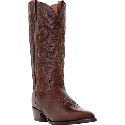 Dan Post Mens Antique Tan Cowboy Boots Leather Cowboy Boots R Toe