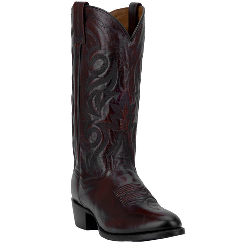 Dan Post Mens Milwaukee Cowboy Boots Leather Black Cherry