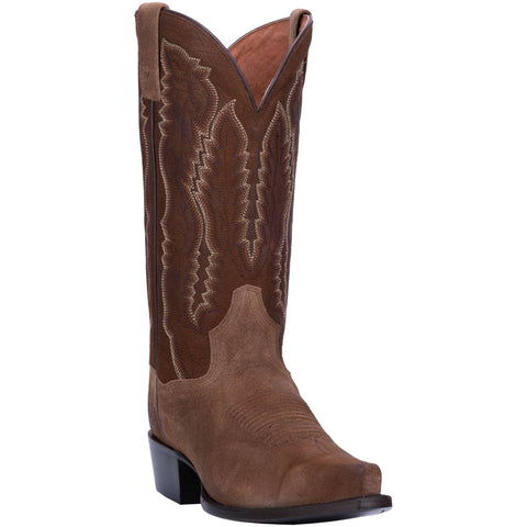 Dan Post Mens Brown Cowboy Boots Leather Snip Toe 10.5 D