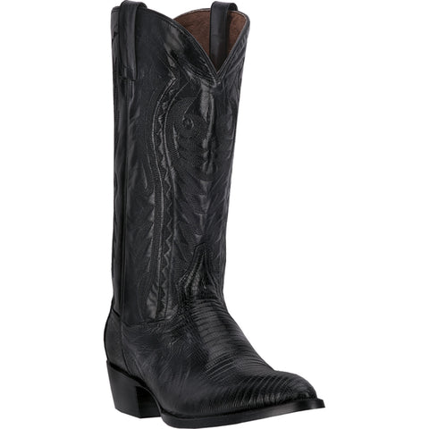 Dan Post Mens Black Lizard Skin Durham J Toe 13in Western Cowboy Boots