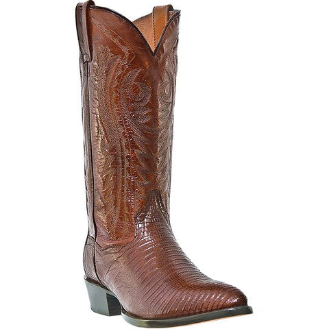 Dan Post Mens Antique Tan Raleigh Lizard Cowboy Boots 13in R Toe