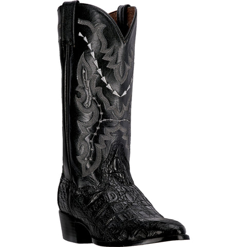 Dan Post Mens Black Caiman Skin Birmingham 13in R Toe Cowboy Boots