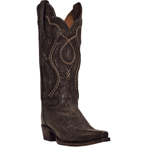 Dan Post Mens Chocolate Rustic Saddle Brand Leather Tyree Cowboy Boots
