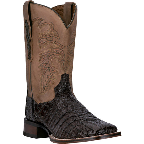 Dan Post Cowboy Certified Mens Chocolate Caiman Skin Denver Cowboy Boots