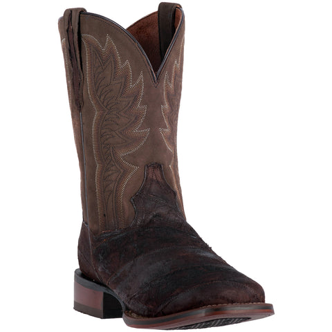Dan Post Cowboy Certified Mens Chocolate Cade Eel Skin Boots 11in