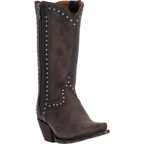 Dan Post Womens Chocolate Heatwave Leather Cowboy Boots 11in