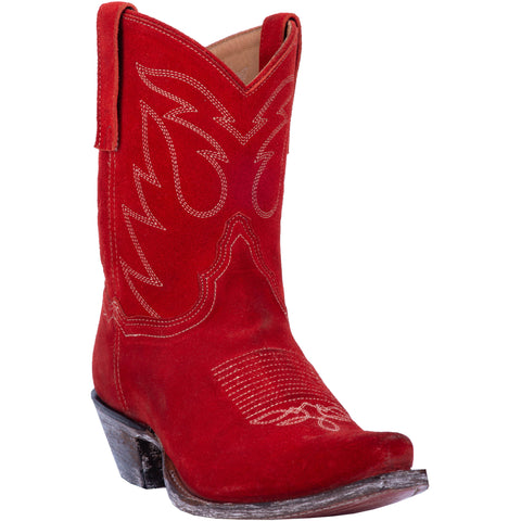 Dan Post Womens Red Cowboy Boots Leather Snip Toe