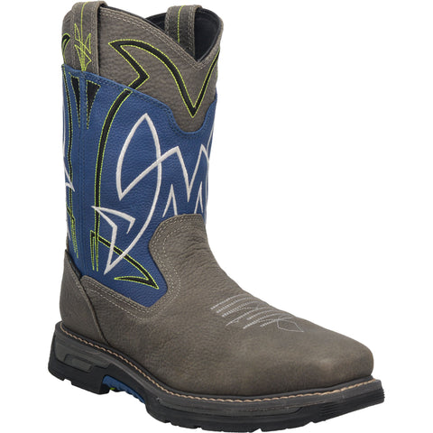 Dan Post Mens Blue/Gray Storm Surge 11in WP Cowboy Boots Leather