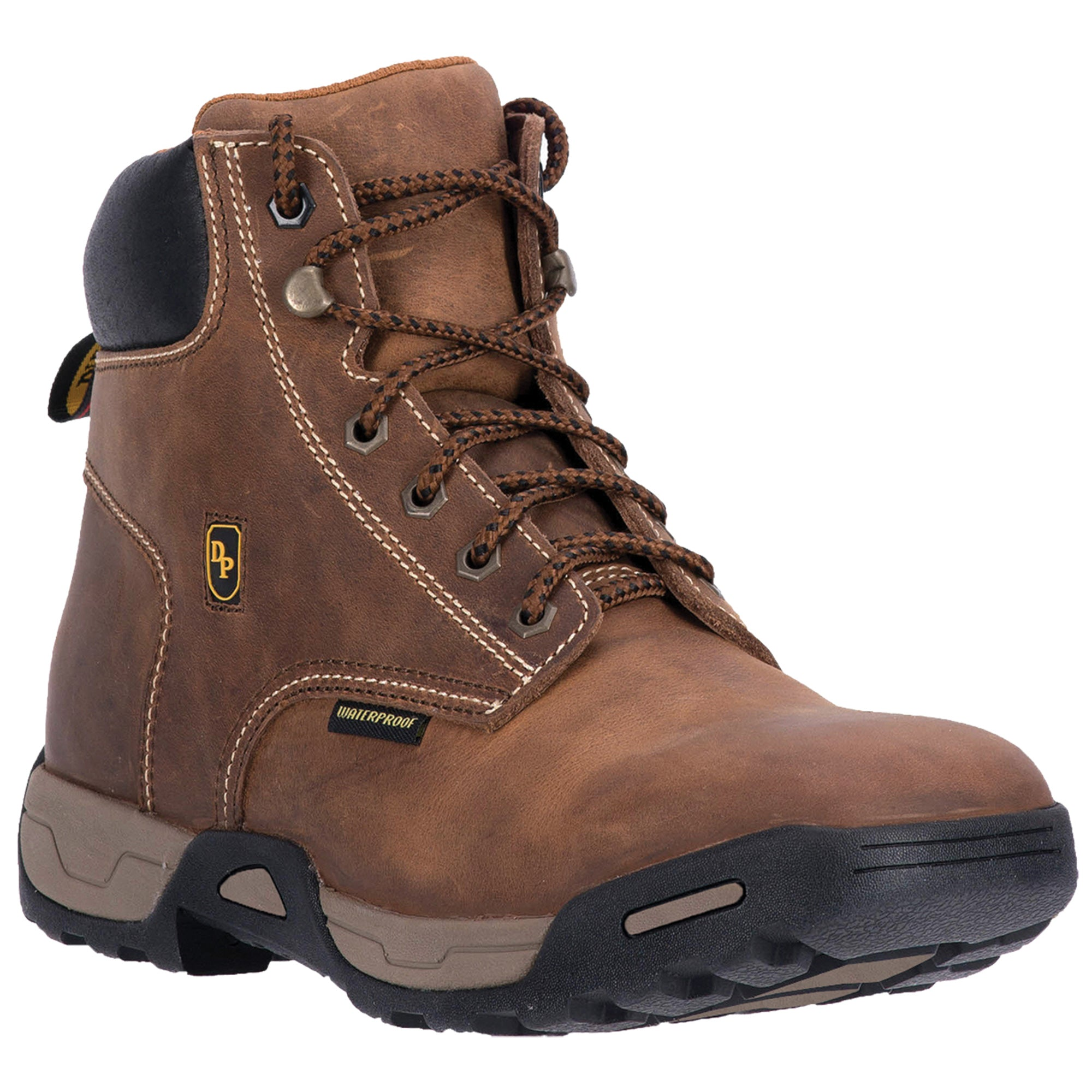984eae8ac77 Dan Post Mens Tan Cabot Work Leather Boots Lace-Up WP