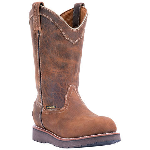 Dan Post Mens Brown Work Boots Leather Cowboy Boots Steel Toe