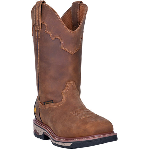 Dan Post Mens Saddle Tan Cowboy Boots Leather Steel Toe