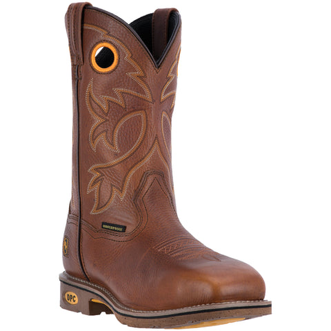 Dan Post Mens Brown Bismarck ST Work Leather Cowboy Boots