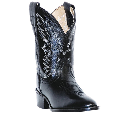 Dan Post Cowboy Certified Kids Black Chaps Leather Boots