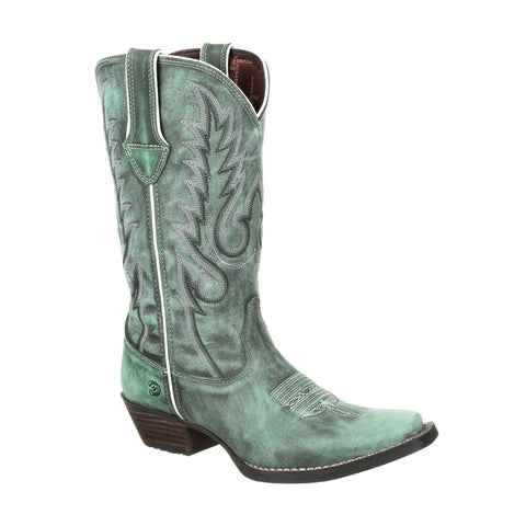 Durango Womens Gypsy Teal Leather Dreamcatcher Cowboy Boots