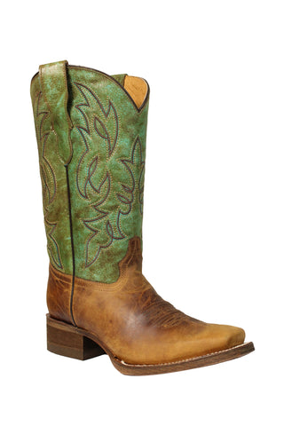 Corral Urban Teen Honey Cowhide Leather Cowgirl Boots