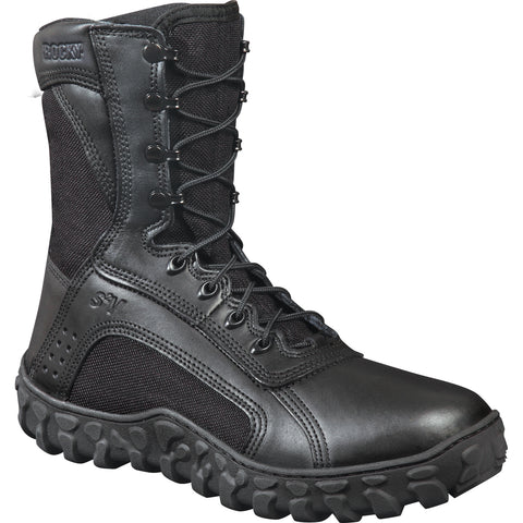 Rocky Mens Black Leather S2V Tactical Military Boots