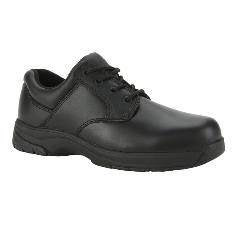 Rocky Mens Black Leather 911 Plain Toe Oxford Shoes