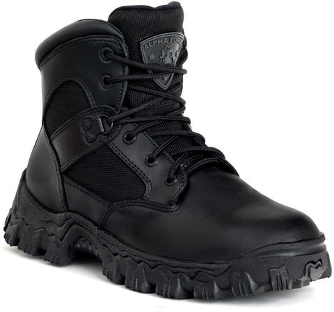 Rocky Womens Black Leather 6in WP Alphaforce Duty Boots