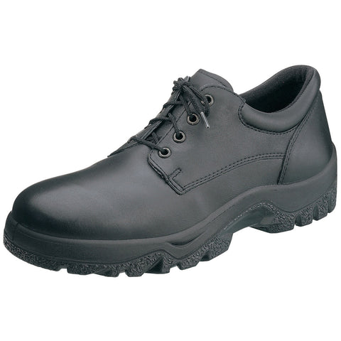 Rocky TMC Mens Black Leather Postal Duty Plain Toe Oxford Shoes