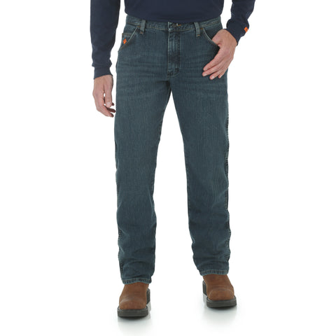 Wrangler Mens Dark Tint Cotton Blend FR AC Jeans