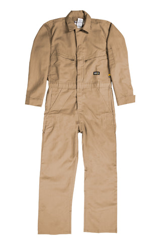 Berne Mens Khaki Cotton Blend FR Deluxe Coverall