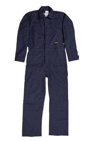 Berne Mens Navy Cotton Blend FR Deluxe Coverall