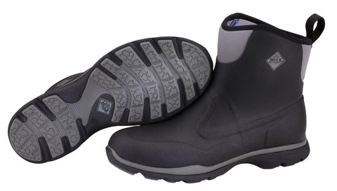 Muck Excursion Pro Mid Mens Outdoor Black/Gunmetal Foam Boots