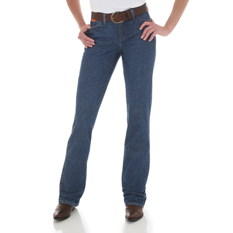 Wrangler Womens Blue Stone 100% Cotton Midrise Jeans
