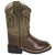 Old West Brown Toddler Boys Broad Square Toe Cowboy Western Boots