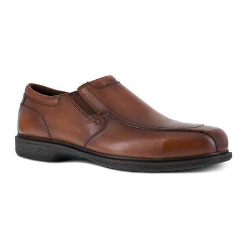 Florsheim Mens Brown Leather Loafers Dress Slip-On Work ST