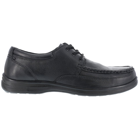 Florsheim Womens Black Leather Oxford Shoes Wily Moc LaceUp Steel Toe