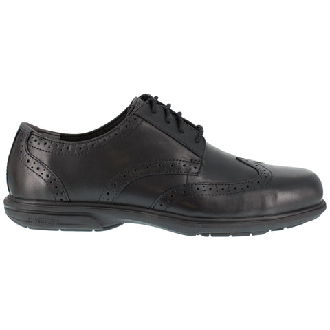 Florsheim Mens Black Leather Oxfords Loedin ST Wingtip