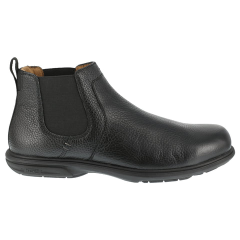 Florsheim Mens Black Leather Work Boots Loedin Steel Toe