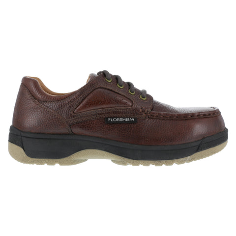 Florsheim Womens Brown Leather Casual Moc Oxford Compadre Steel Toe
