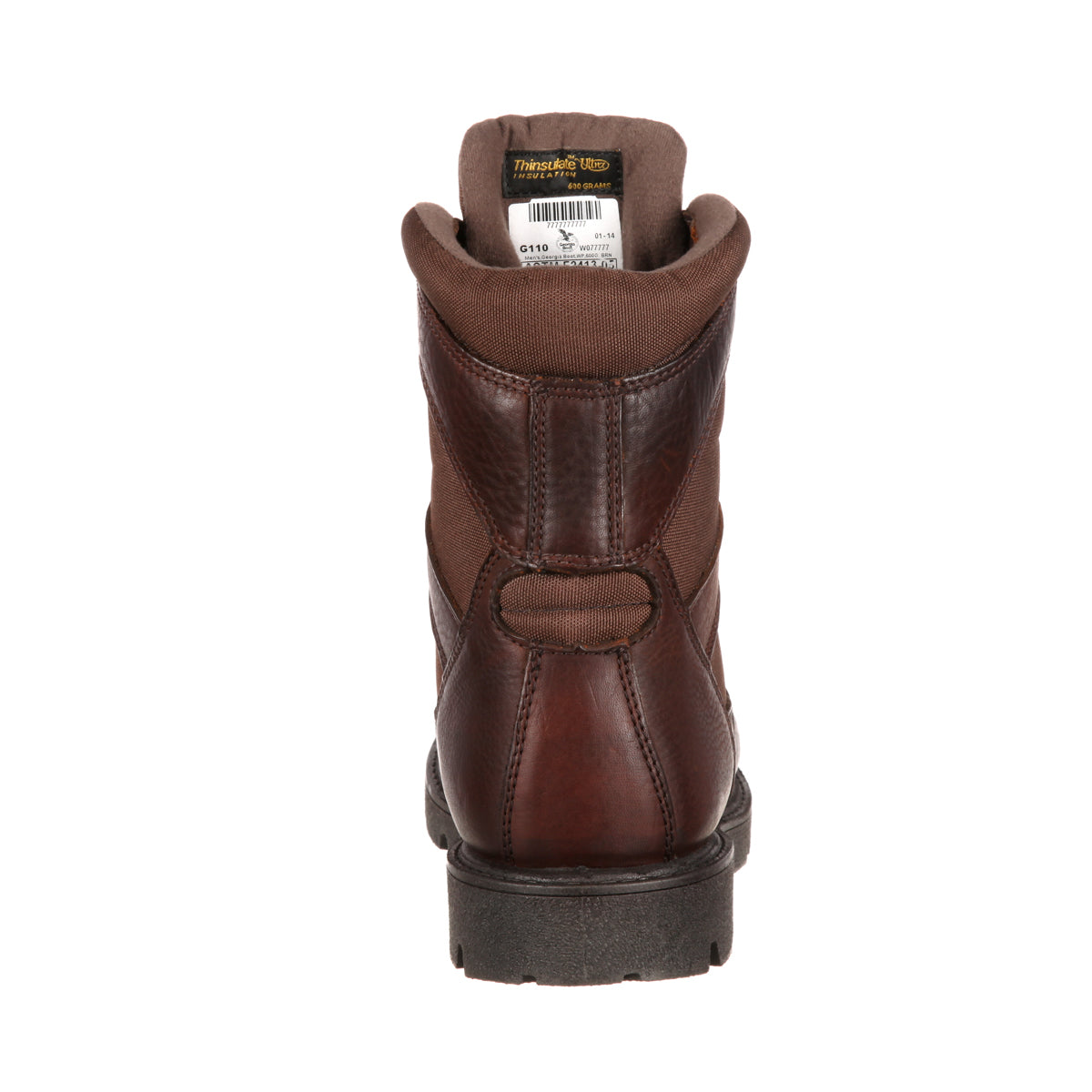 b14d20a0a69 Georgia Homeland Mens Brown Leather Insulated Waterproof Work Boots ...
