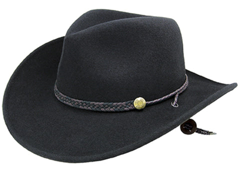 Bailey Montrose Black Unisex Felt Western Hat Wind River Cassidy 66c5f4537997