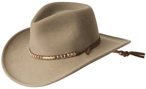 Bailey Columbia Putty Unisex Felt Western Hat Wind River Cassidy