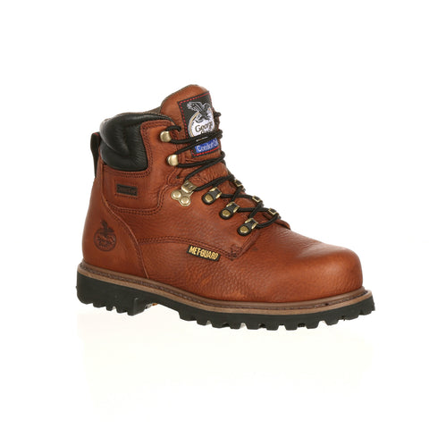 Georgia Mens Briar Brown Leather Hammer ST Metatarsal Work Boots