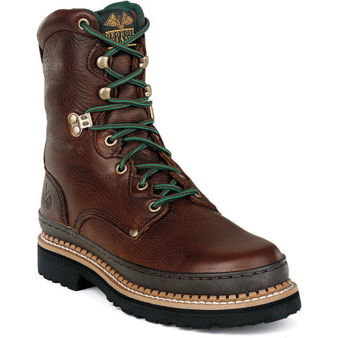 Georgia Giant Mens Soggy Brown Leather Comfort Lace Up Work Boots