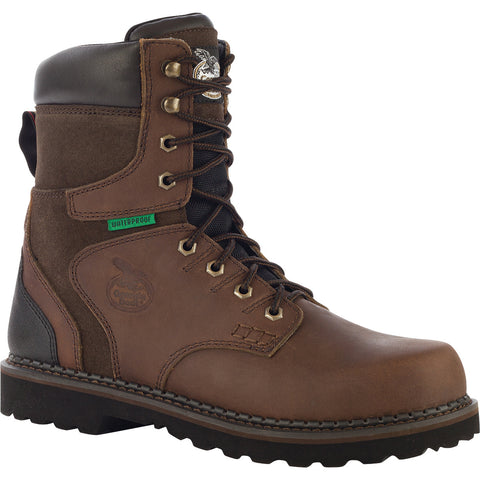 Georgia Brookville Mens Dk Brown Leather Steel Toe WP Work Boots