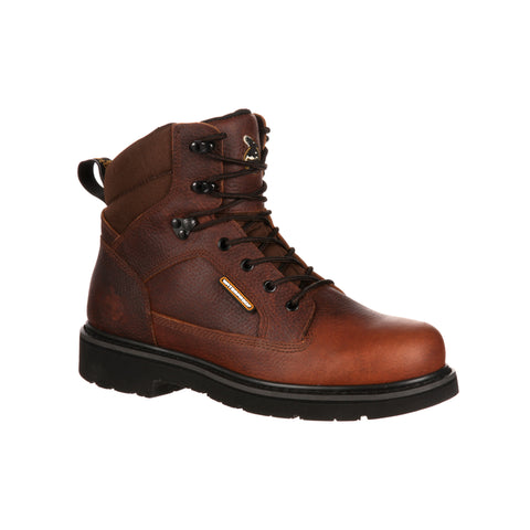 Georgia Mens Brown Leather Glennville Waterproof Work Boots