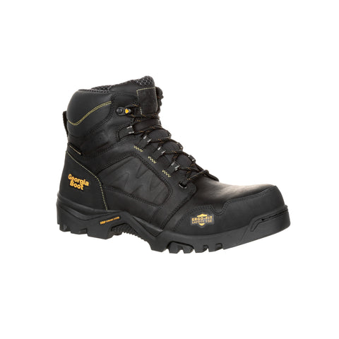 Georgia Mens Black Leather Amplitude WP CT Work Boots