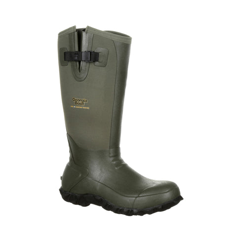Georgia Mens Green Rubber 16in Waterproof Work Boots
