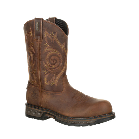Georgia Mens Brown Leather Carbotec WP CT Work Boots