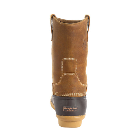 Georgia Unisex Brown Leather Marshland Duck Pull-On Hunting Boots