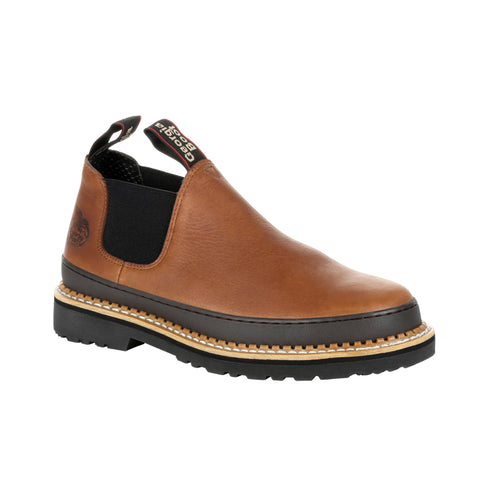 Georgia Mens Brown Leather Revamp Romeo Slip-On Shoes