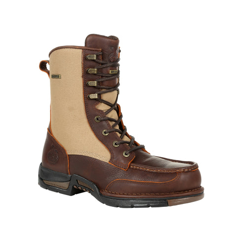 Georgia Mens Brown Leather Athens WP Zip Upland Hiking Boots